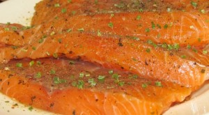 salmon-with-green-onion