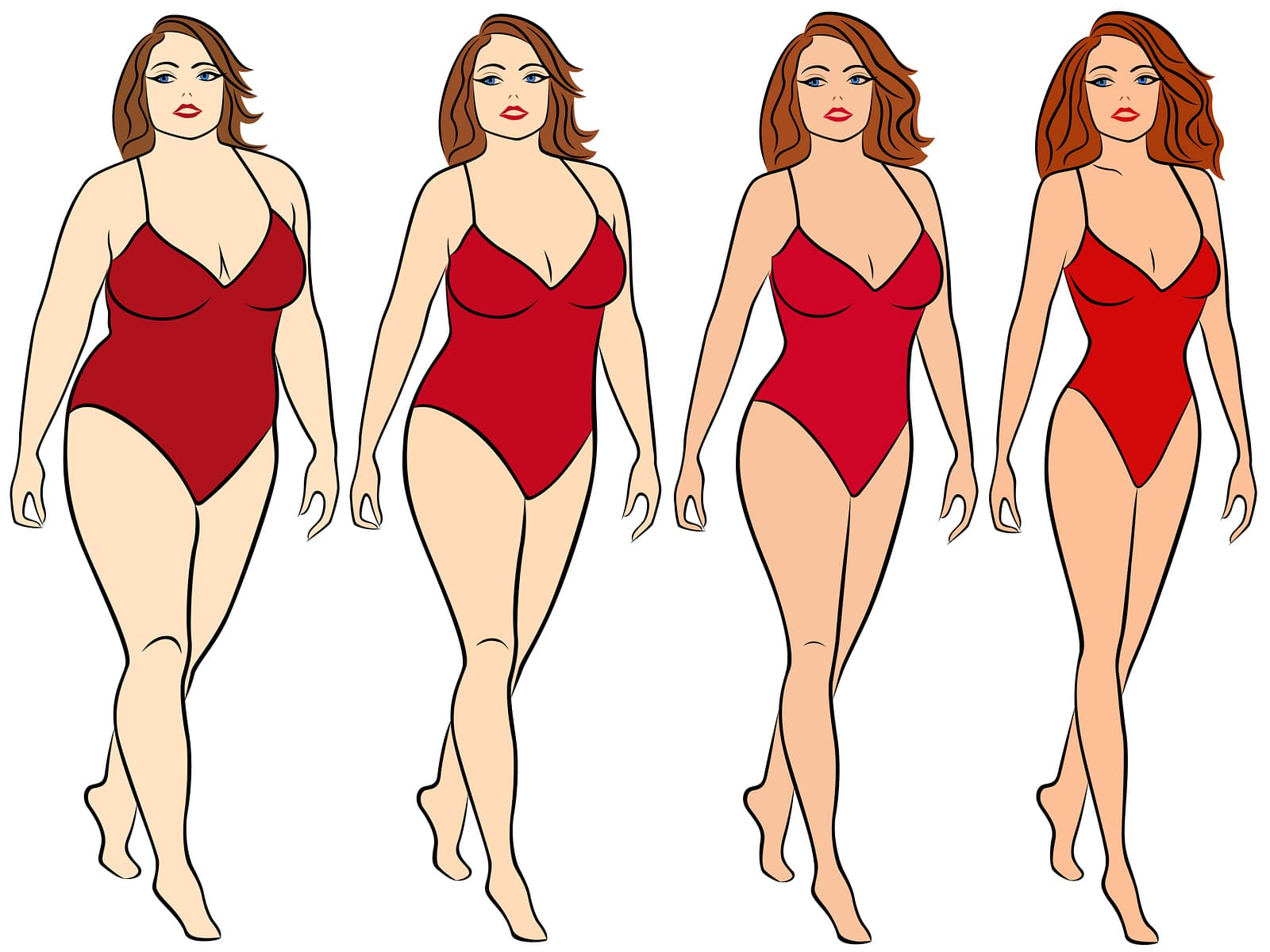 Female On The Way To Lose Weight